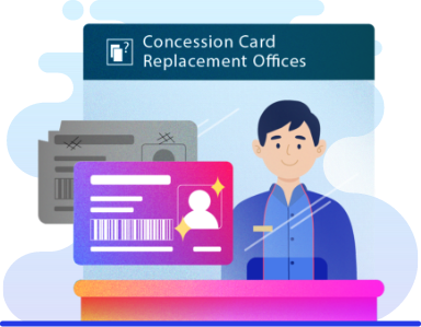 Concession Card Replacement Offices